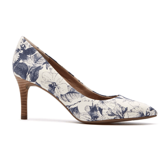 Total Motion Pointed Toe Pump in Navy
