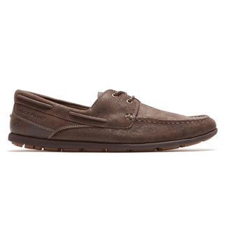 Rockport Men's Dark Brown Bennett Lane 3 Boat Shoe