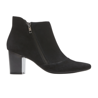 Gail Zip Bootie, BLACK SUEDE