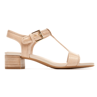 Total Motion T-Strap Sandal in Tan