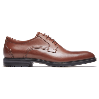 City Smart Plain Toe - Men's Tan Oxfords