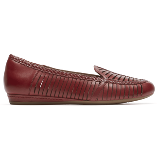 Cobb Hill Galway Woven Loafer in Red
