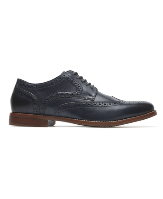 Style Purpose Wingtip Comfortable Men's Shoes in Navy