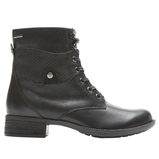 Copley Waterproof Lace Up, BLACK LTHR
