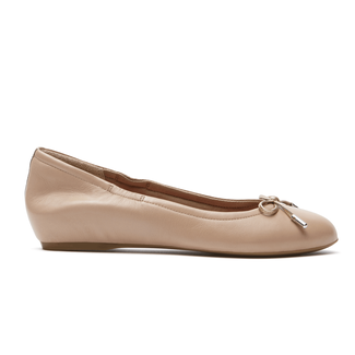 Total Motion Hidden Wedge Tied BalletRockport Women's Nude Total Motion Hidden Wedge Tied Ballet