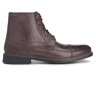 Classic Break Cap Toe Zip Boot in Brown