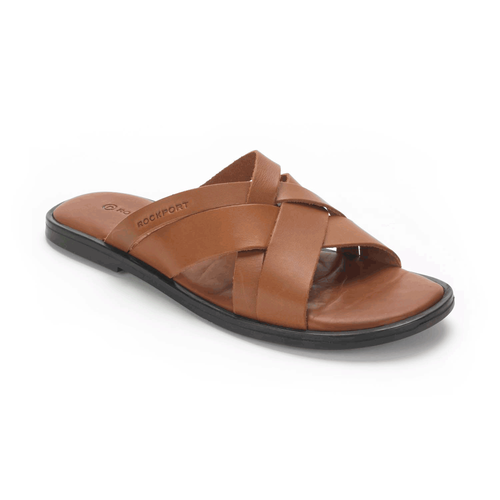 Beach Multi Straps Men's Sandals in Brown