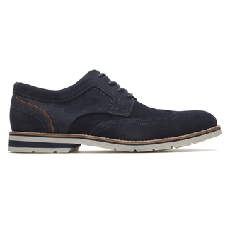 Statford Wingtip Comfortable Men's Shoes in Navy
