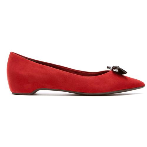 Total Motion Hidden Wedge Bow Pump Women's Heels in Red