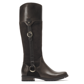 Tristina Buckle Riding Boot Extended Shaft Women's Boots in Brown