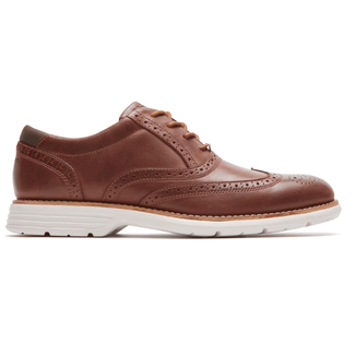 Rockport Men's Brown Total Motion Fusion Wing Tip
