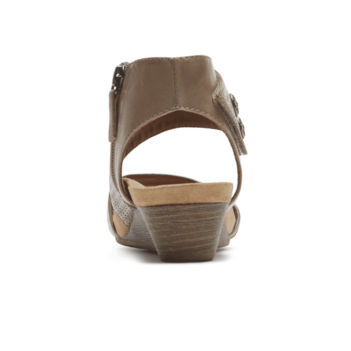 Cobb Hill Hollywood Cuff Sandal, KHAKI
