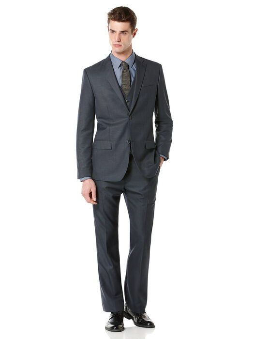Regular Fit Textured Fabric Suit, , hi-res