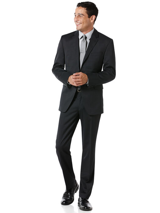 Modern Fit Black Pin Dot Suit, , hi-res