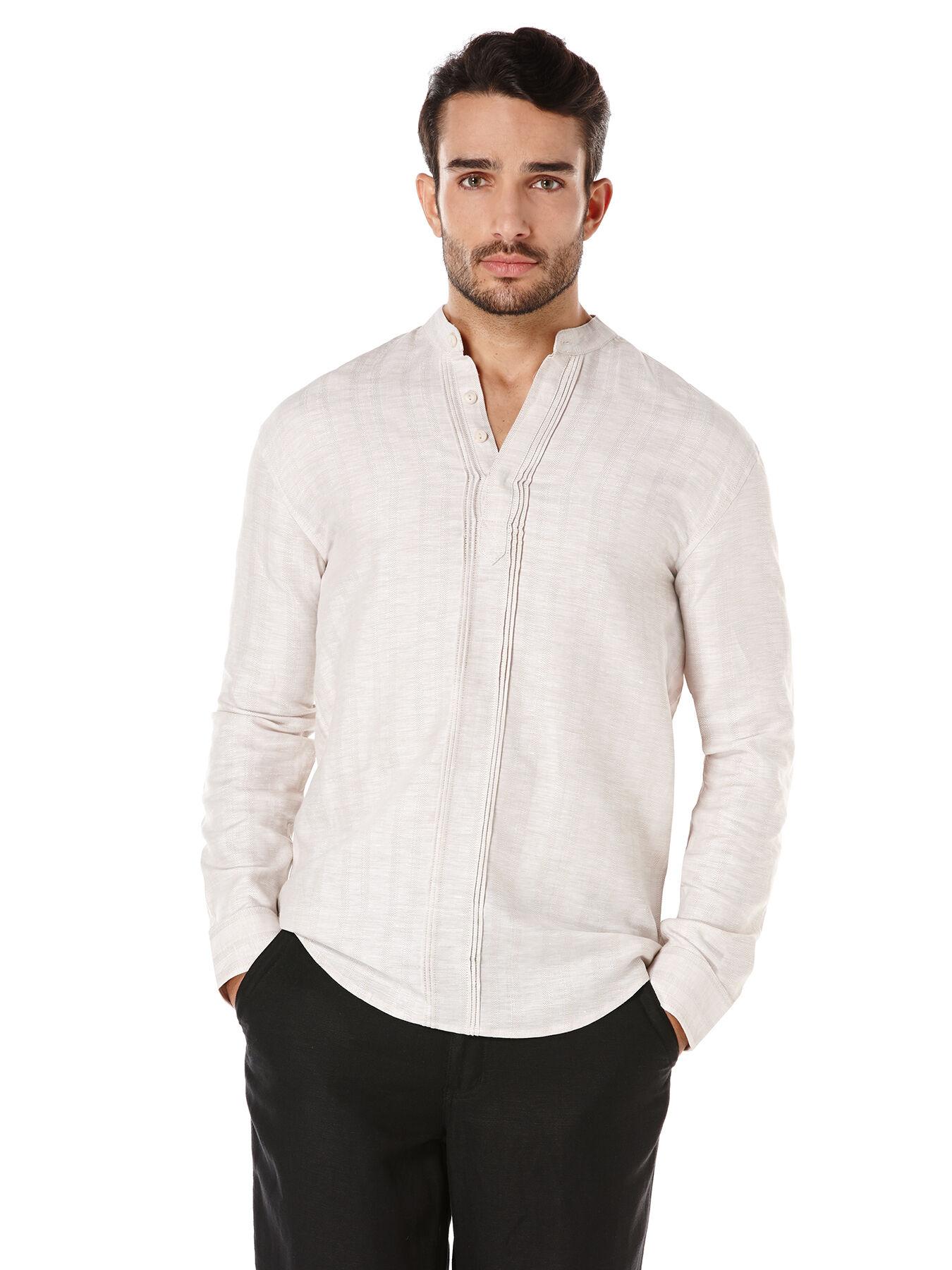 Cubavera Linen Cotton Long Sleeve Mens Shirt