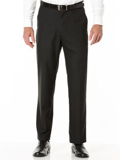 Subtle Plaid Portfolio Dress Pant, Black, hi-res