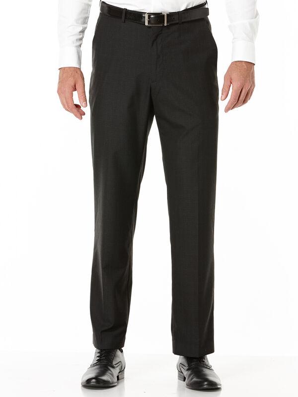 Subtle Plaid Portfolio Dress Pant, Black, hi-res