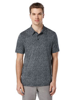 Short Sleeve Printed Polo, Black, hi-res