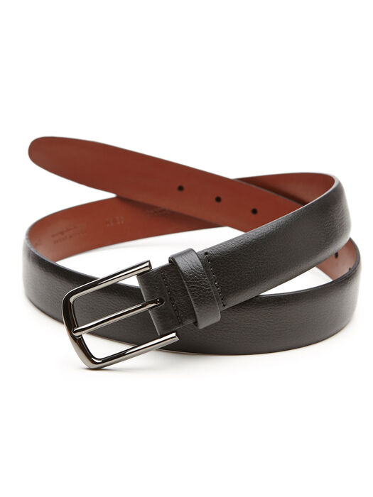 Park Ave Leather Belt, Black, hi-res