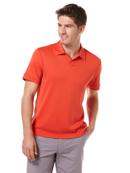 Rib Open Collar Knit Polo, , hi-res