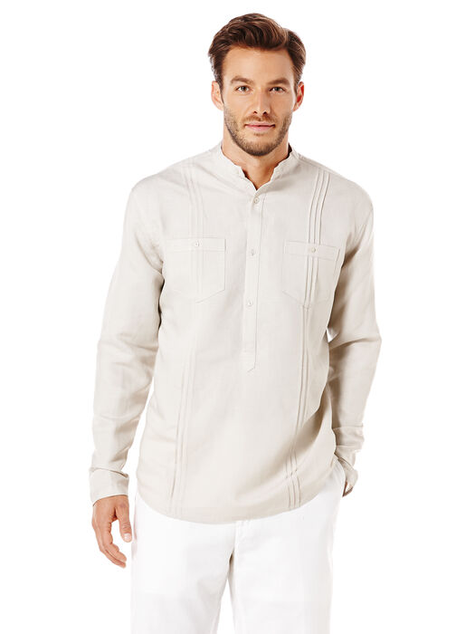 Long Sleeve 2 Pocket Tuck Front Popover, , hi-res