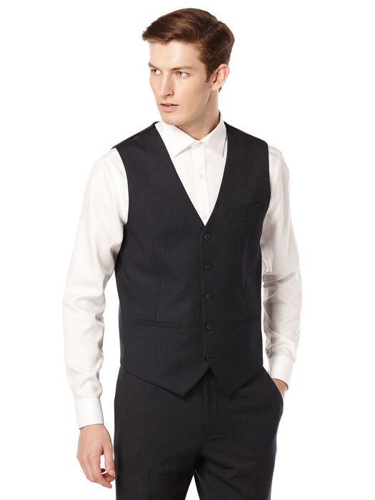 Neat Suit Vest, Midnight Blue, hi-res