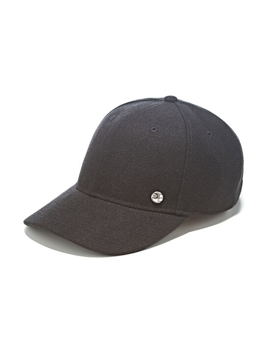 Heavy Twill Baseball Cap, Black, hi-res