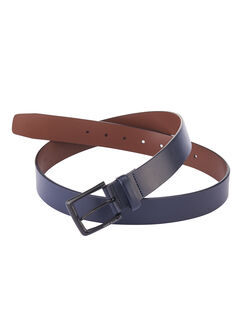Shiny Leather Belt, Navy, hi-res