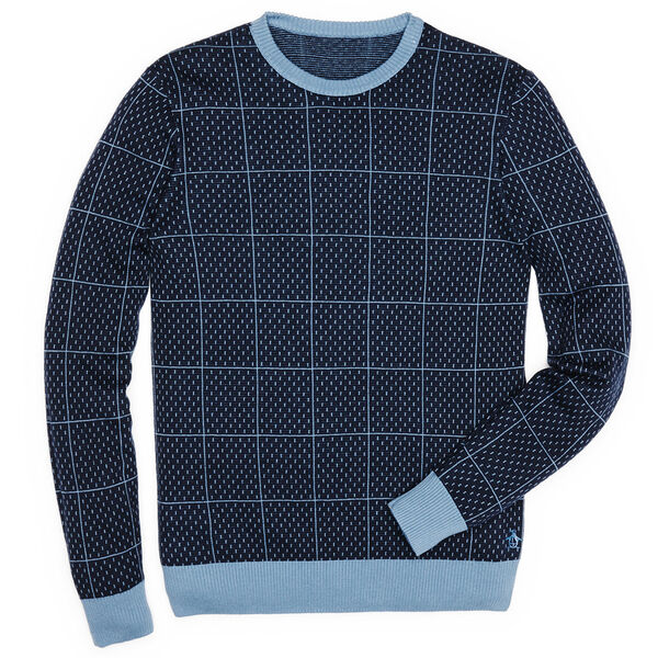 WINDOW PANE SWEATER, Captains Blue, hi-res