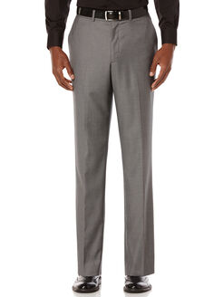 City Fit Solid Sharkskin Suit Pant, Charcoal, hi-res