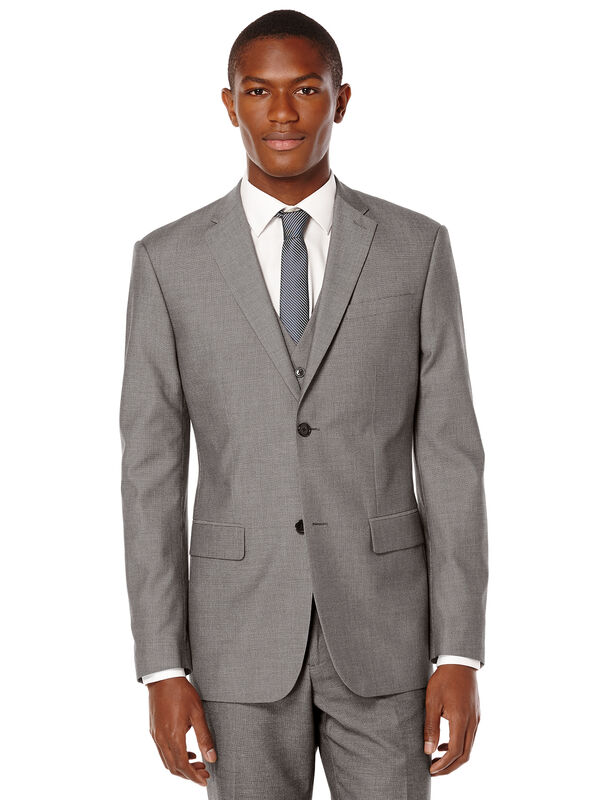 Birdseye Suit Jacket, Charcoal Heather, hi-res