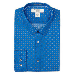 LONG SLEEVE POPLIN DRESS SHIRT, Classic Blue, hi-res