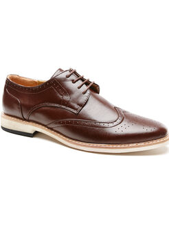 Wingtip Dress Shoe, Wood, hi-res
