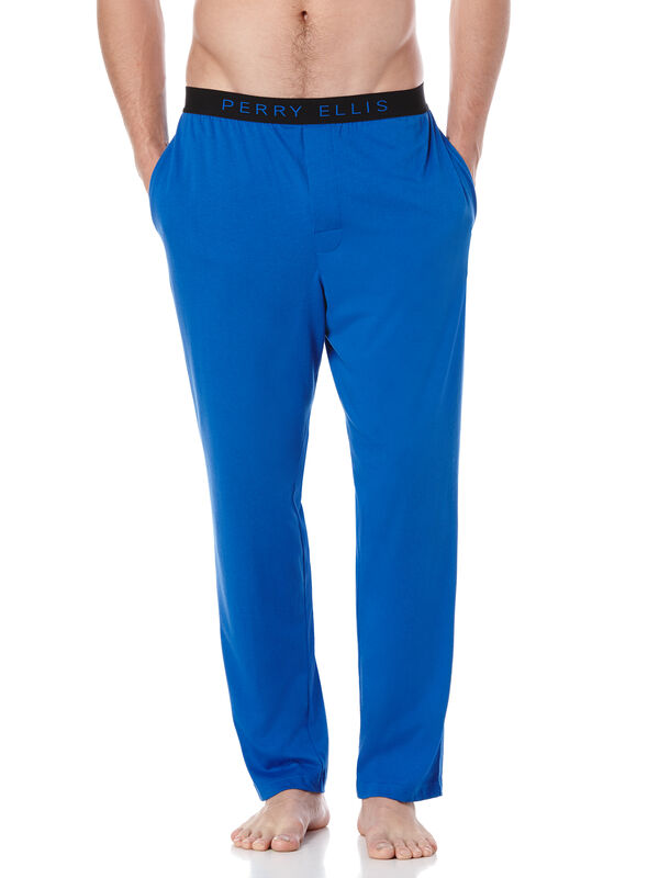 Solid Knit Sleep Pant, Blue Mischief/Black, hi-res
