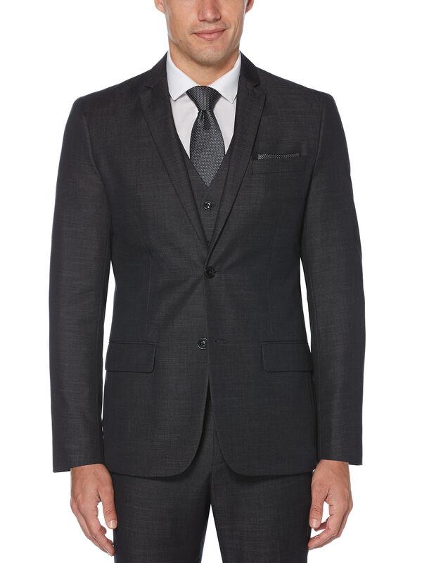 Slim Fit Chambray Suit Jacket, Black, hi-res