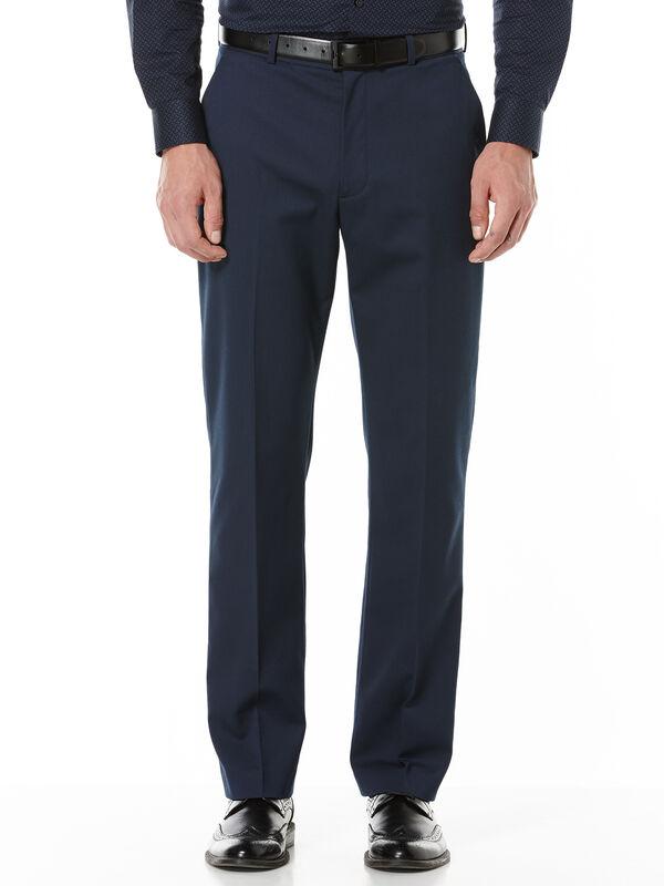 Regular Fit Textured Suit Pant, Navy, hi-res