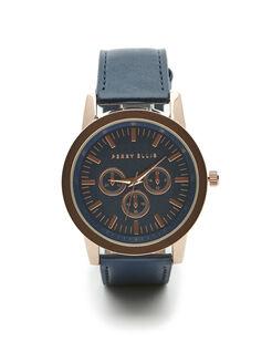 Rose Gold Watch, Blue, hi-res