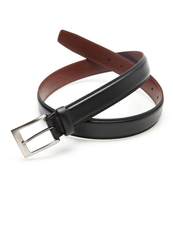 Timothy Leather Belt, Black, hi-res