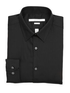 Classic Fit Diamond Dobby Dress Shirt, Black, hi-res