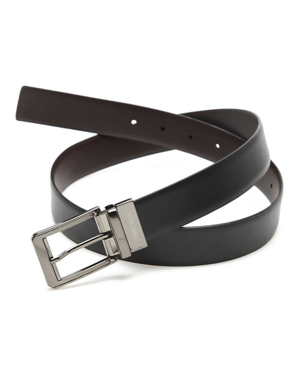 Iron Man Reversible Leather Belt, Blk/Brn, hi-res