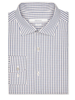 Slim Fit Micro Check Dress Shirt, Evening Sand, hi-res
