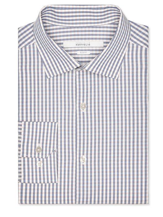 Slim Fit Micro Check Dress Shirt, Evening Sand, hi-res