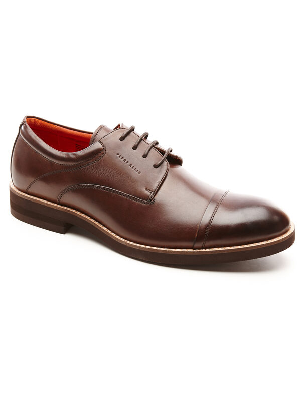Melvin Dress Shoe, Dark Brown, hi-res