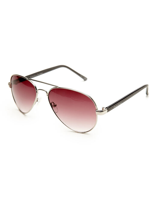 The Aviator Sunglasses, Silver, hi-res