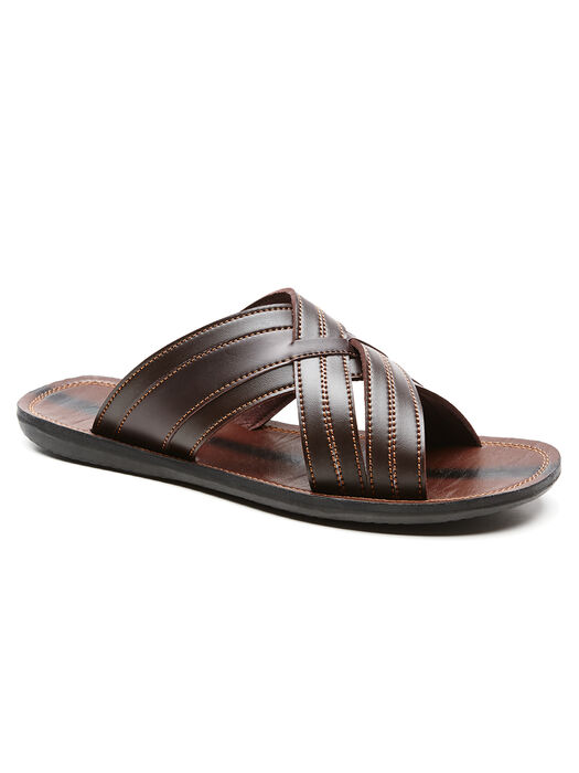 Cross Slide Sandal, Wood, hi-res