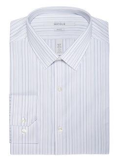 Slim Fit Uneven Stripe Dress Shirt, Alloy, hi-res