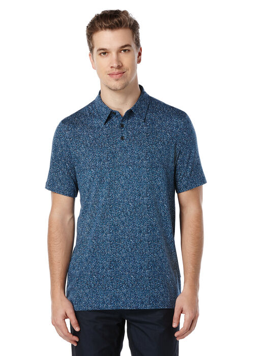 Short Sleeve Printed Polo, Eclipse, hi-res