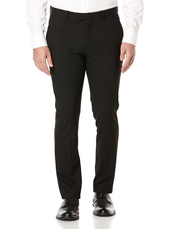 Very Slim Heather Solid Dress Pant, Black Ice, hi-res