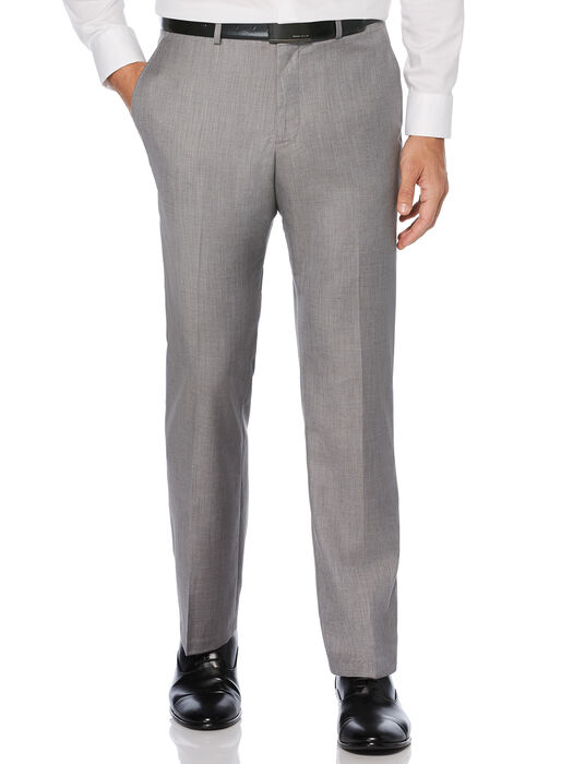Regular Fit Herringbone Suit Pant, Brushed Nickel, hi-res