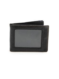 America Flip Clip Portfolio Wallet, Brown, hi-res